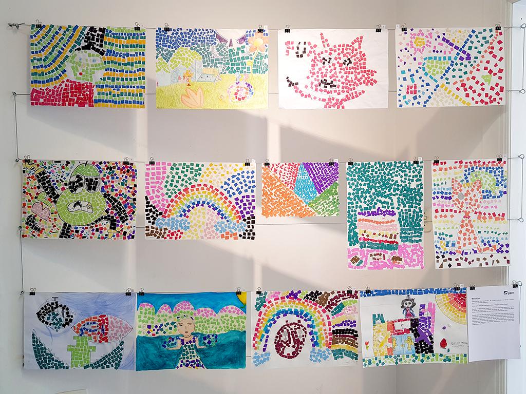 Exposição Arte para Crianças desenhos cores