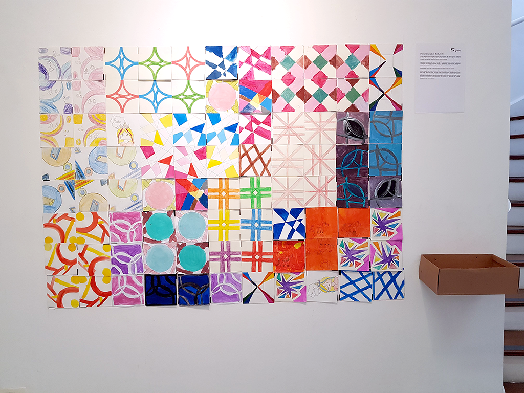 Exposição Arte para Crianças trabalho de arte colorida quebra-cabeças