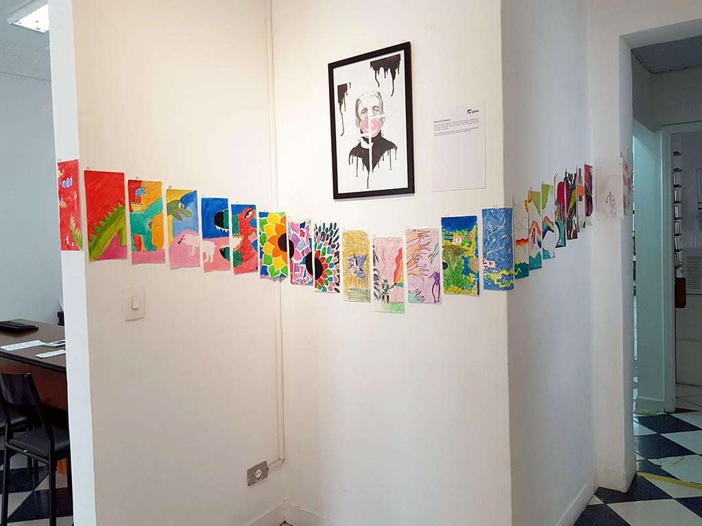 Exposição Arte para Crianças trabalhos de arte sequencial