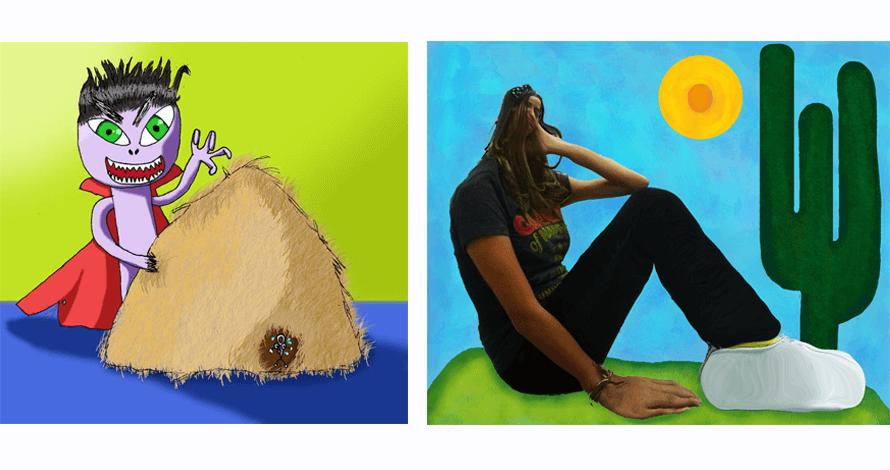 arte digital kids desenho monstro agulha no palheiro