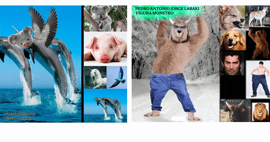 arte digital kids colagem fotos animais