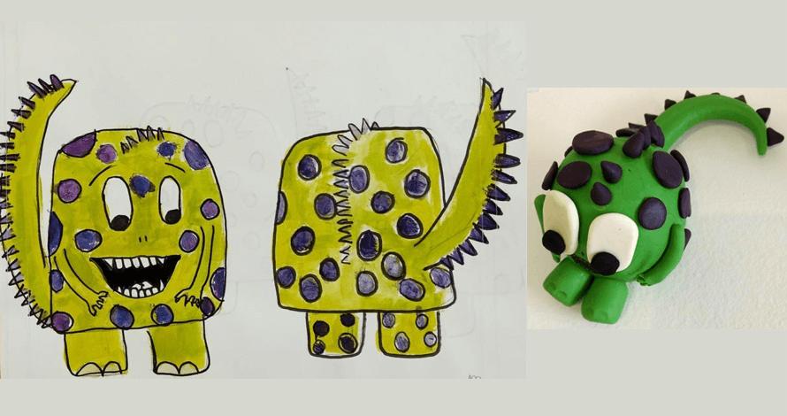 arte para crianças curso escultura e model sheet