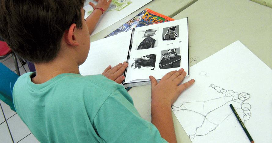arte kids curso história em quadrinhos projetos artísticos desenho personagem