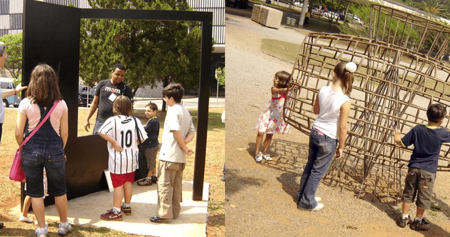 arte para crianças curso projetos artísticos visita MAM jardim das esculturas