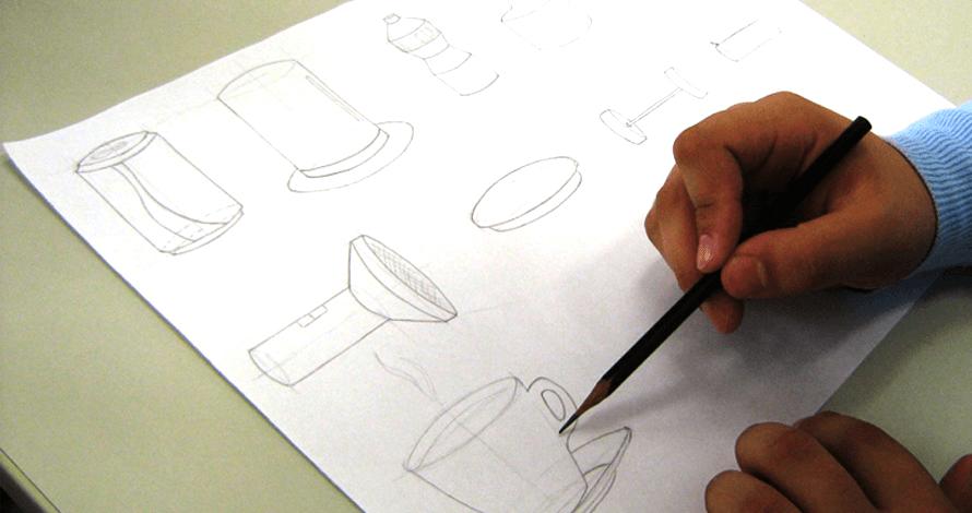 bases do desenho - aluno em aula 2