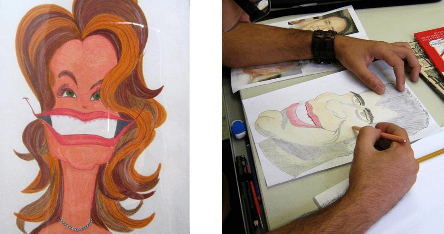 caricatura lápis de cor cores