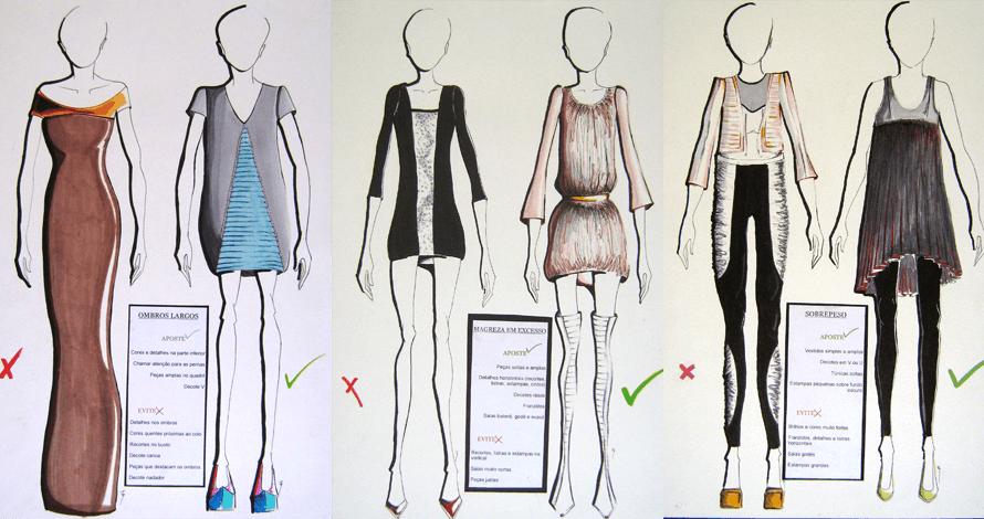 criatividade em moda ilustração a cores desenho de moda