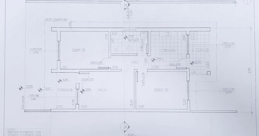 decoração - projeto de ambiente planta casa