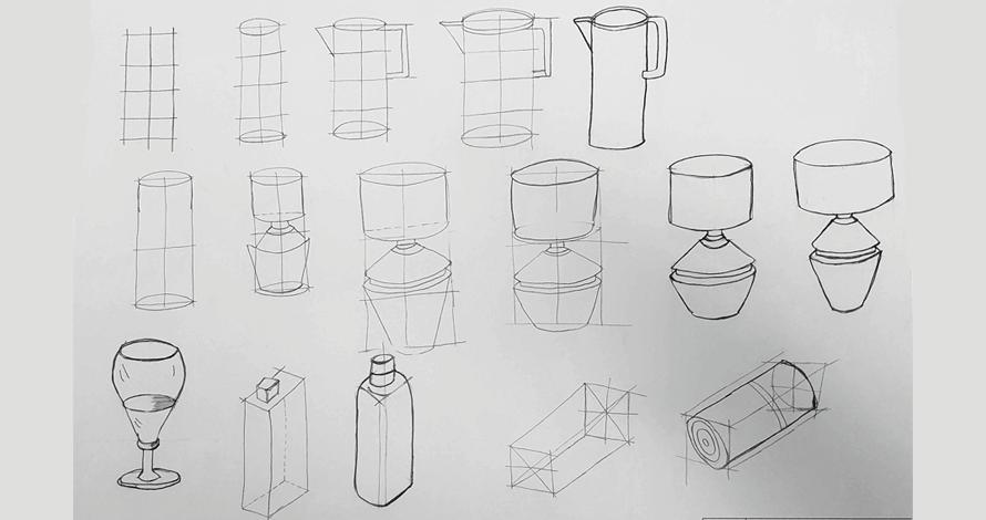 decoração - projeto de ambiente desenho abajur