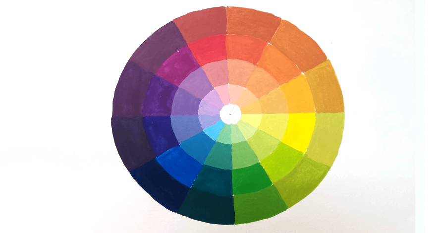 desenho criativo círculo das cores