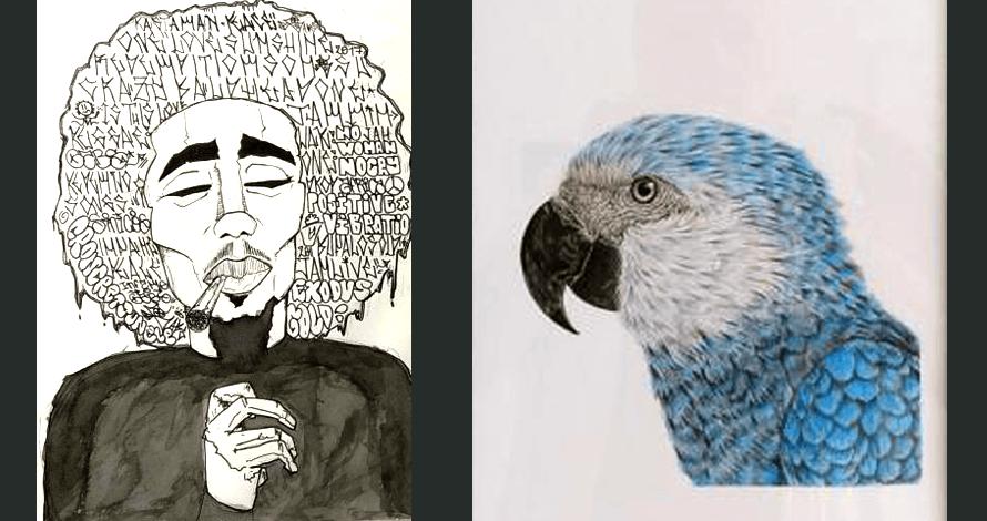 Trabalhos dos Alunos Gabriel Silva Maricato e Vanessa Marella Neves da Silva - Desenho Criativo