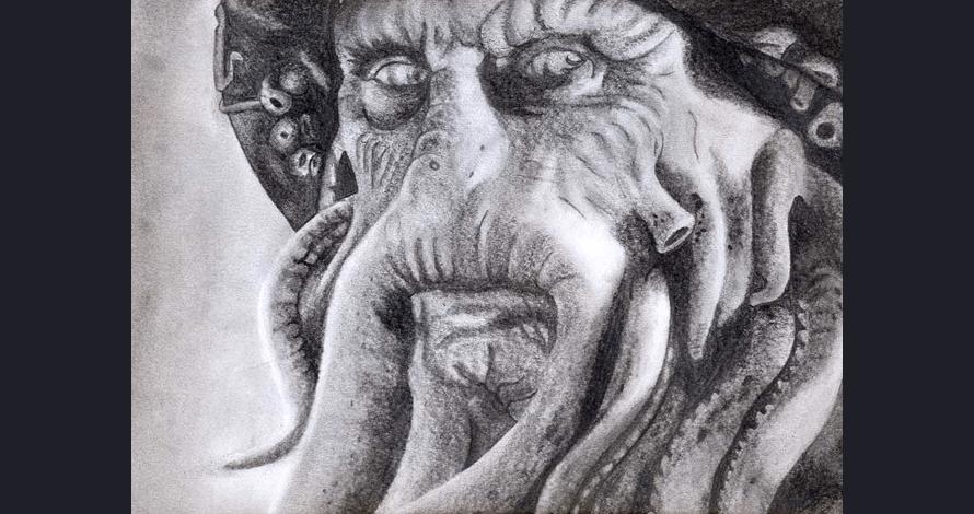 desenho criativo grafite monstro