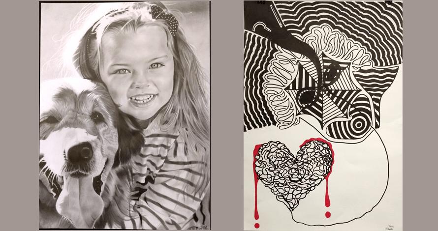 desenho em atelier curso retrato grafite e estilização nanquim
