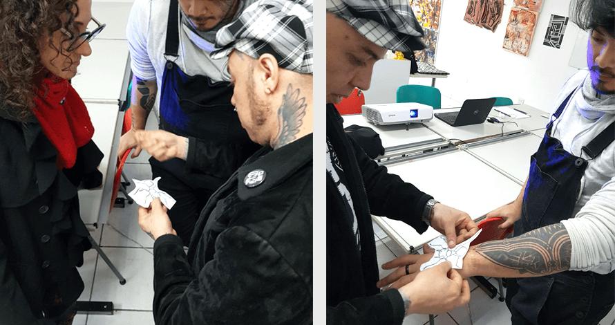 desenho de tatuagem workshop e aplicação