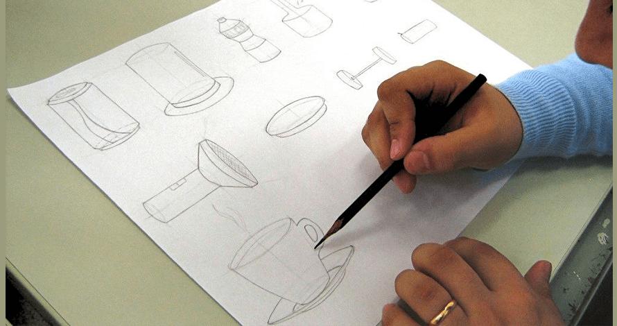 desenho para vestibular objetos proporção observação