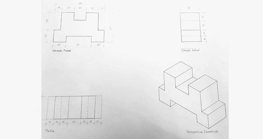 desenho técnico projeção ortogonal