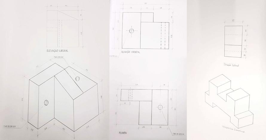 desenho técnico projeções ortogonais