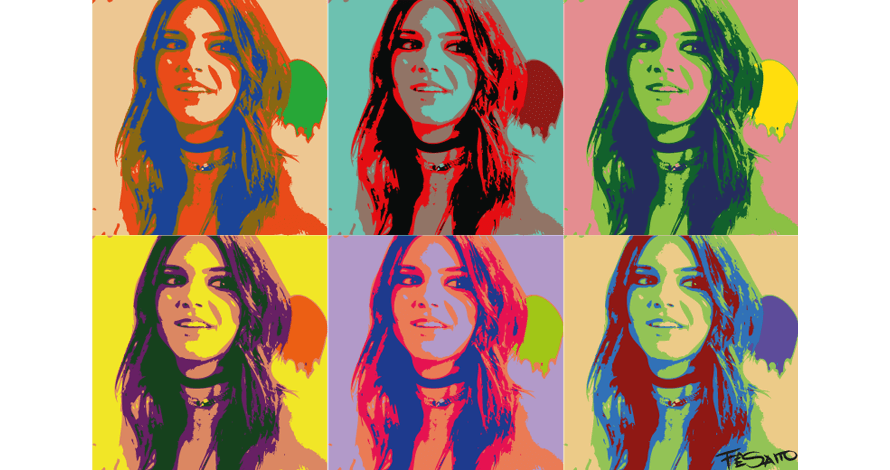 illustrator rostos pop art em desenho digital vetorizado