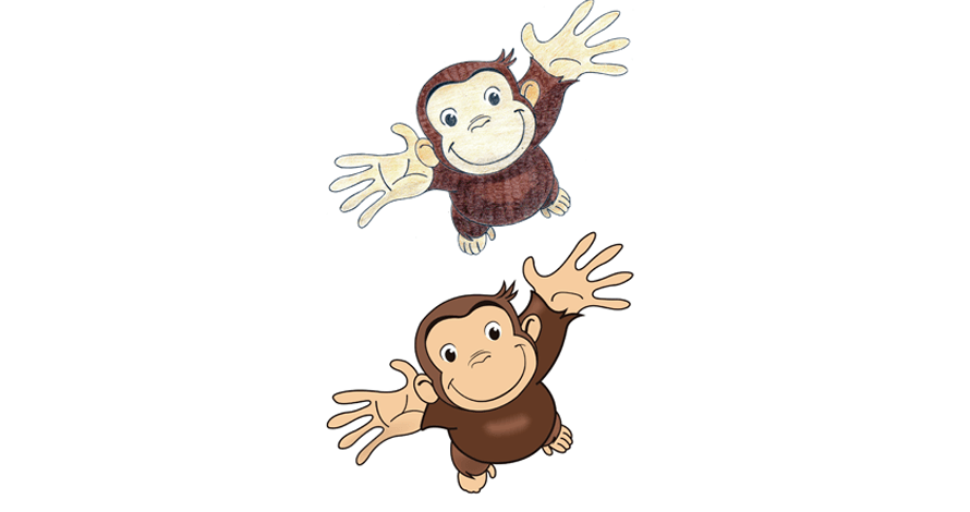 illustrator macaco em desenho digital vetorizado