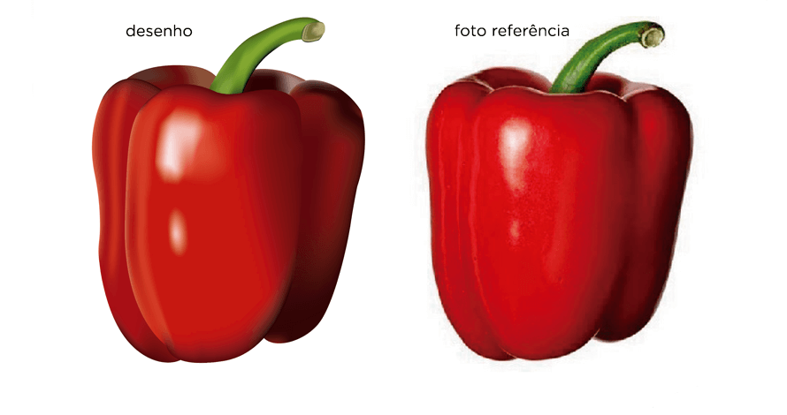 illustrator pimentão em desenho digital vetorizado