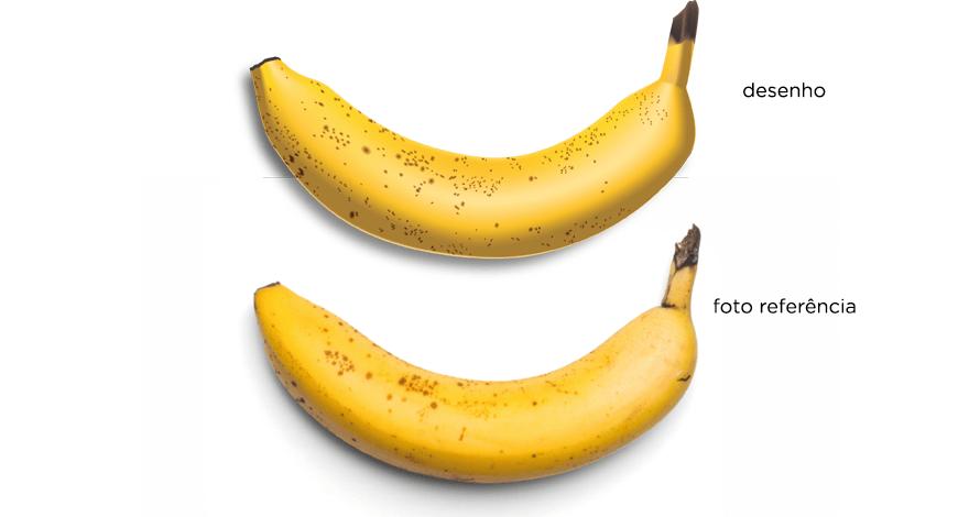 illustrator banana em desenho digital vetorizado