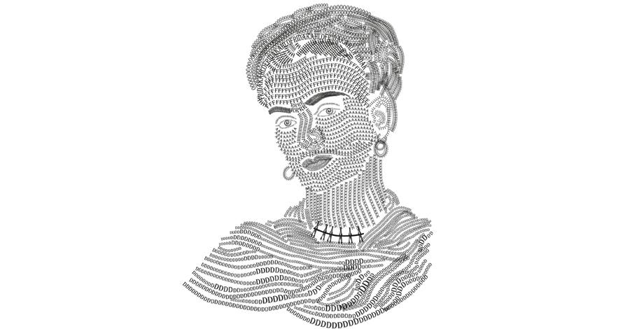 illustrator desenho digital com tipografia