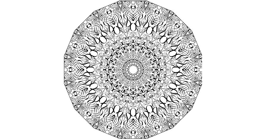 illustrator mandala em desenho digital vetorizado
