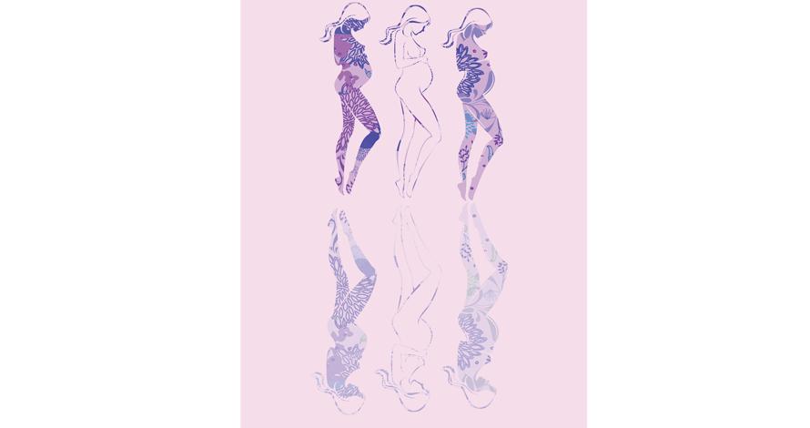 illustrator criação gravidez em desenho digital vetorizado