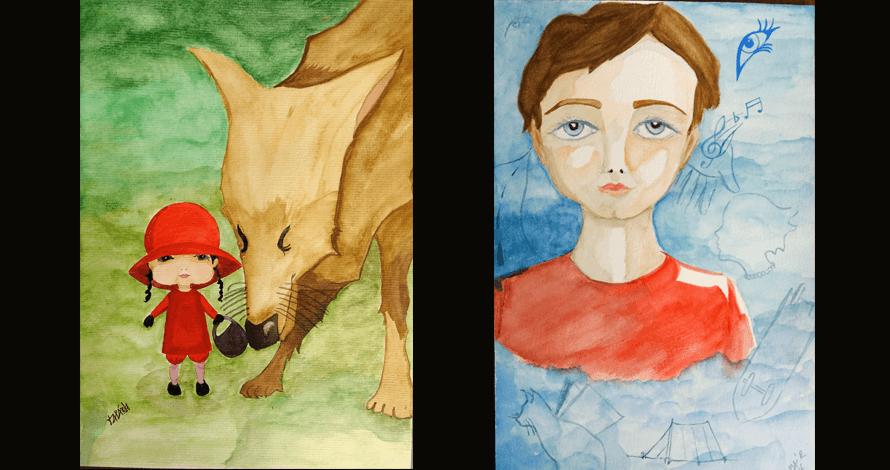 ilustração - Itamara do Carmo Servio Ferreira - chapeuzinho vermelho