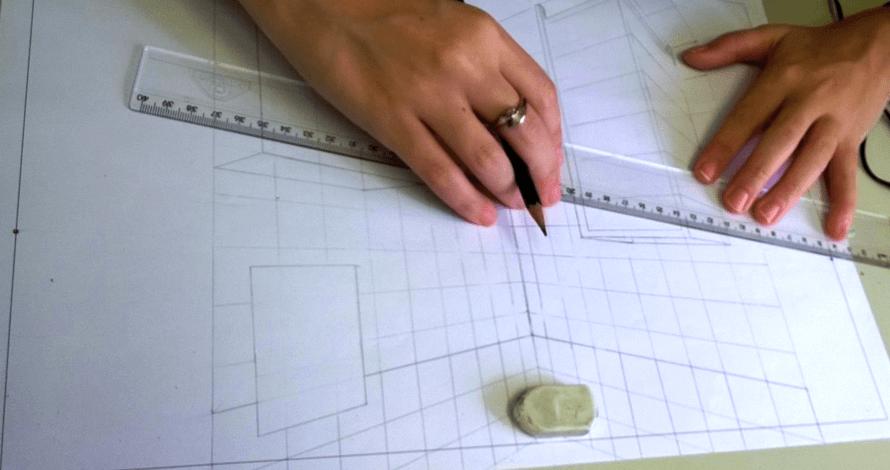 perspectiva desenho projeto cozinha