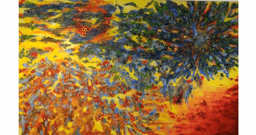 curso pintura óleo sobre tela abstração grafismo