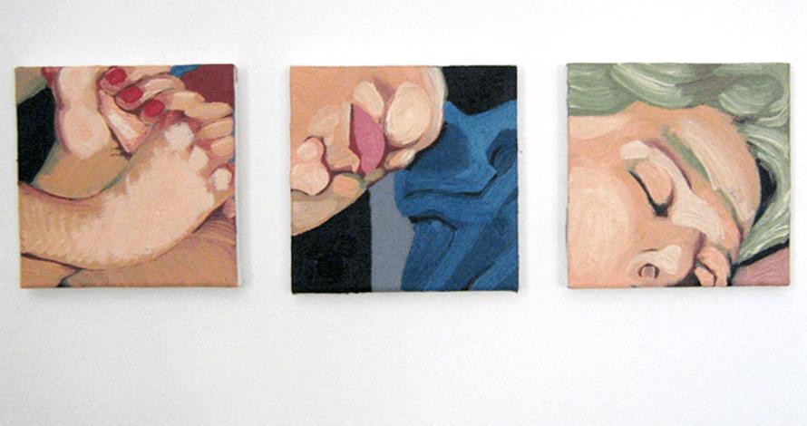 curso pintura óleo sobre tela rosto mulher pés e mãos