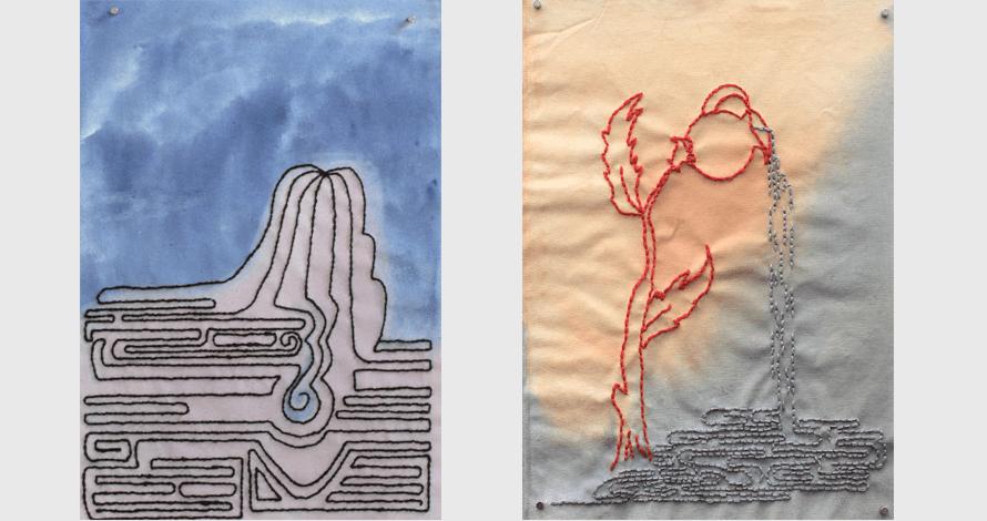 Práticas de Artista oNúcleo bordado sobre tela