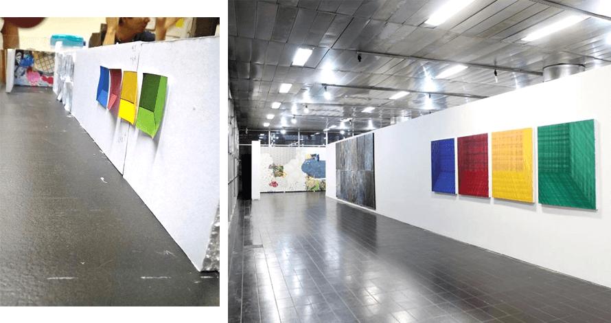 Práticas de Artista oNúcleo maquete e exposição de pinturas Paço de Sto.André