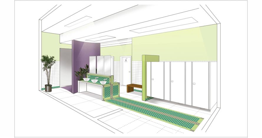 técnico em design de interiores projeto banheiro concurso DECA