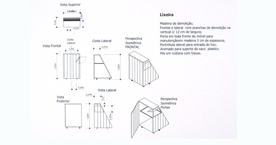 técnico em design de interiores projeto marcenaria