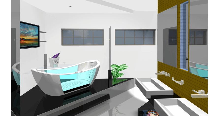 técnico em design de interiores prêmio DECA banheiro