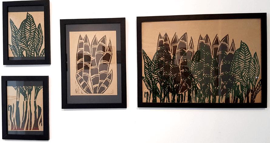 xilogravura exposição quadros