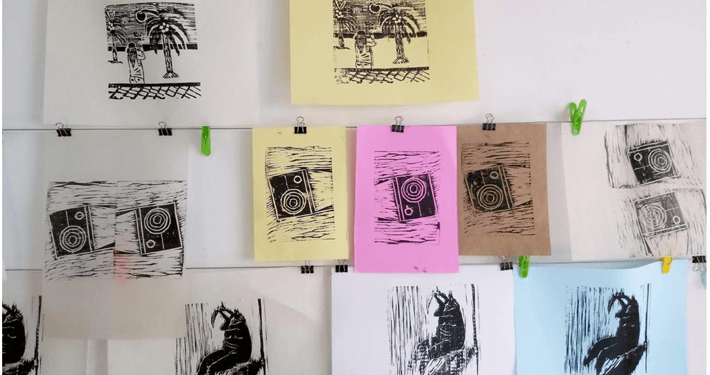 xilogravura impressoes coloridas