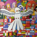 aluna vencedora cartaz pomba branca da paz