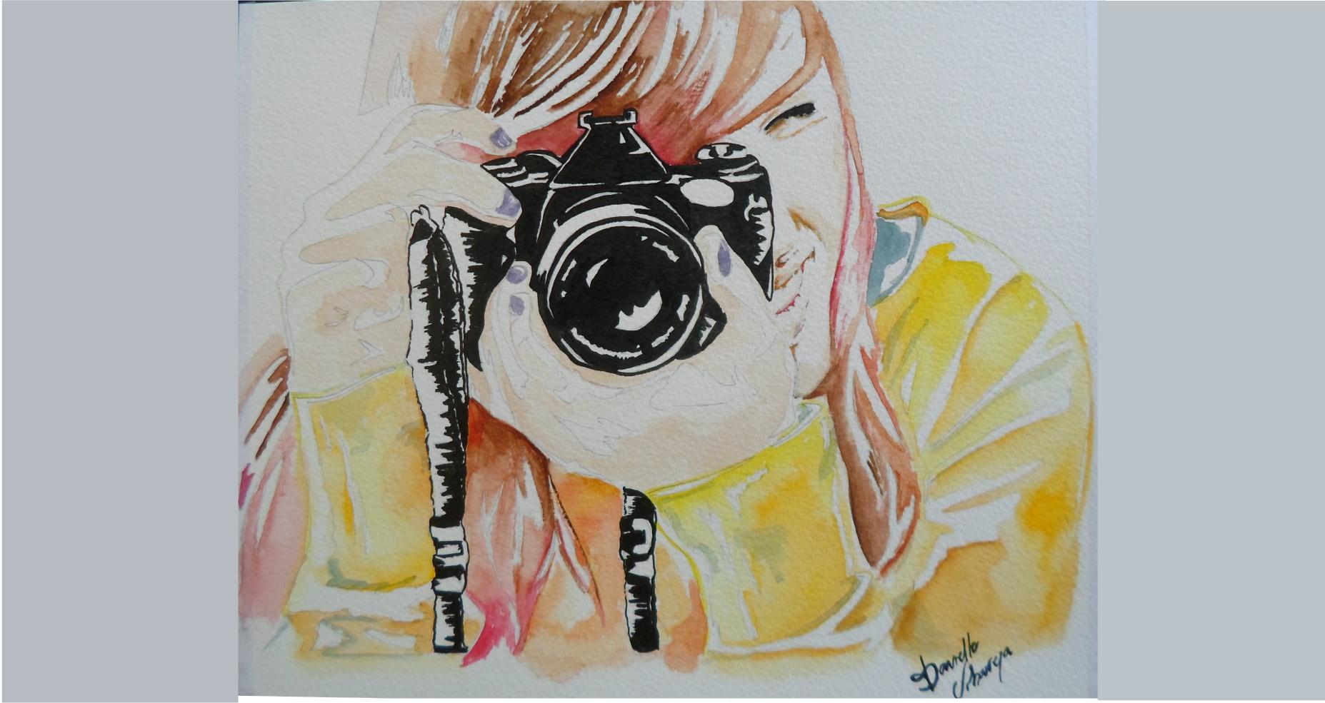 desenho criativo fotografia moça