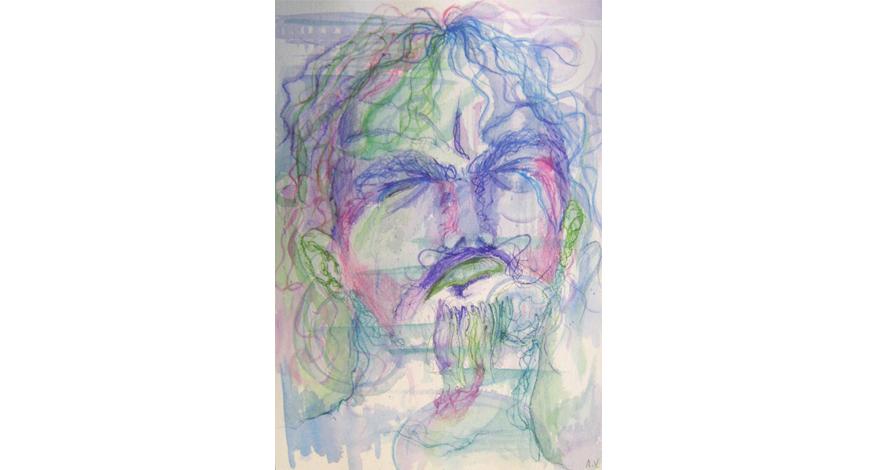 desenho criativo lápis de cor rosto