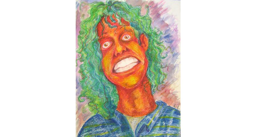 desenho criativo - rosto laranja
