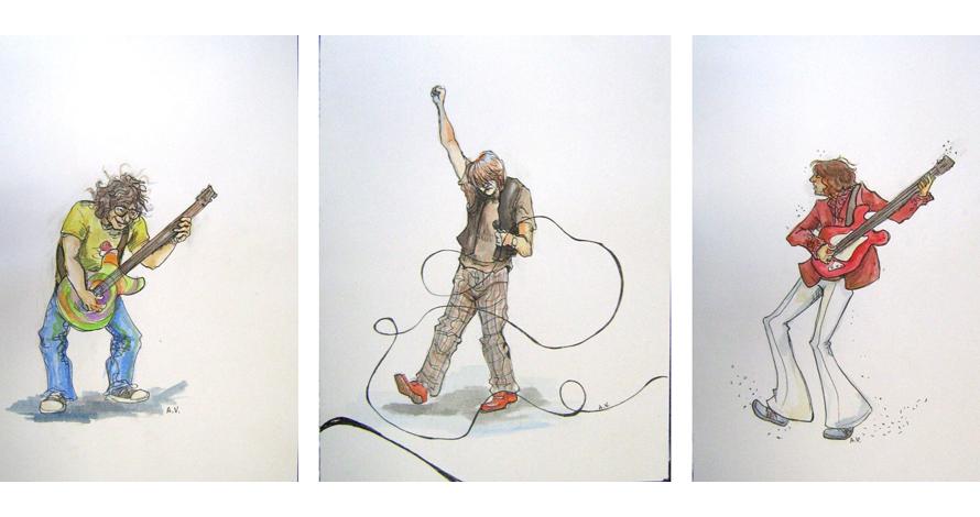 desenho criativo - instrumentos dança canto
