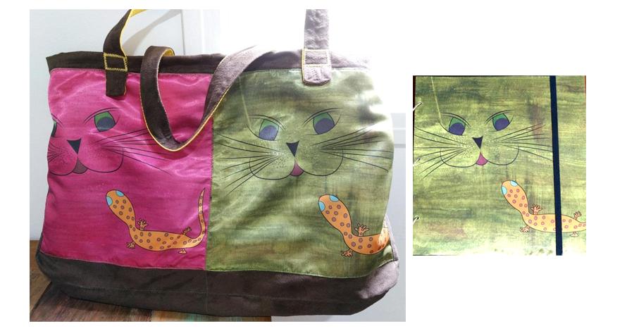 bolsa ilustração gato cat