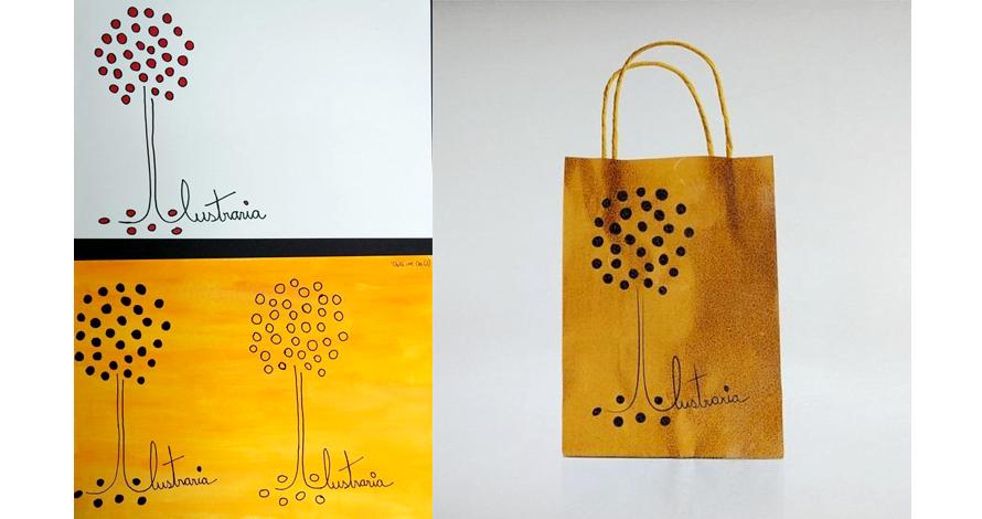 sacola ilustração com alças