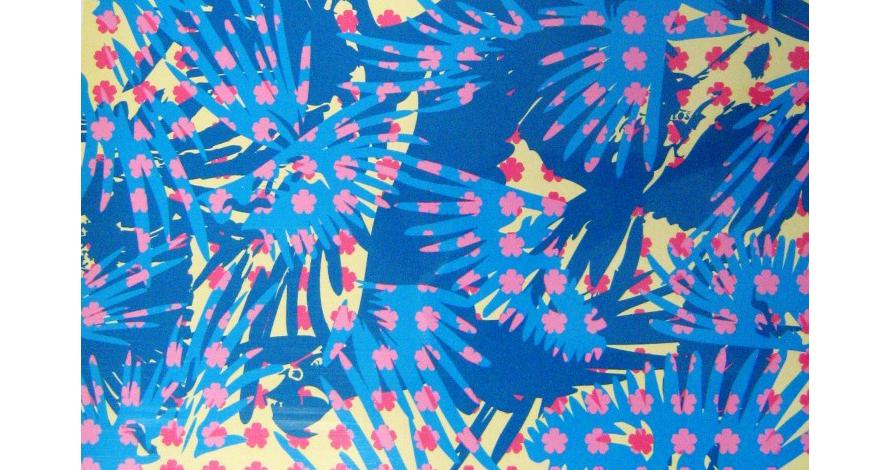 pintura digital azul