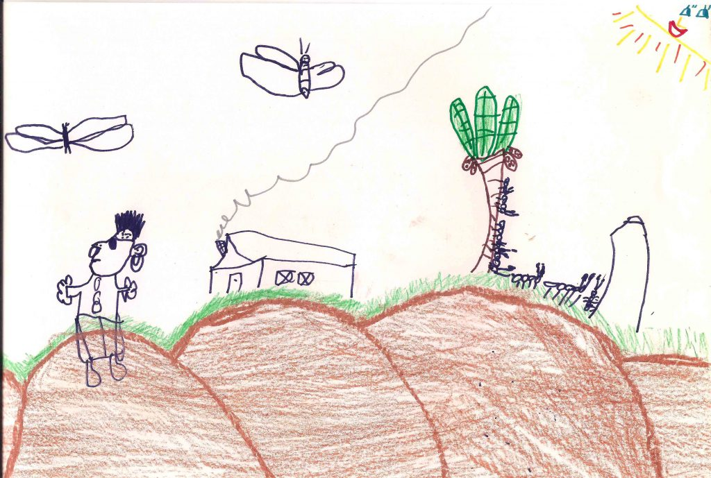 desenho de paisagem infantil