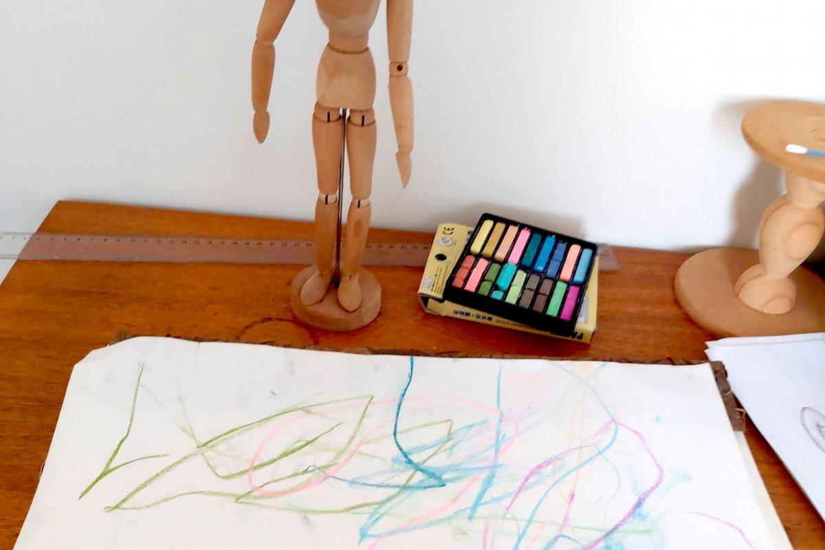 sobre desenhar desenho rabisco de criança